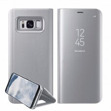 """Atverčiamas Plastikinis Dėklas """"Sview"""" Samsung Galaxy S8 G950 Sidabrinis"""
