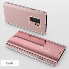 """Atverčiamas Plastikinis Dėklas """"Sview"""" Samsung Galaxy S9 Plus G965 Rožinis"""