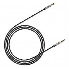Audio adapteris Baseus Yiven M30 iš 3,5mm į 3,5mm AUX 1m juodai-sidabrinis CAM30-BS1