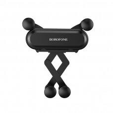 Automobilinis Universalus telefono laikiklis Borofone BH19 tvirtinamas ant ventiliacijos grotelių, juodas