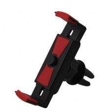 Automobilinis Universalus telefono laikiklis CPH-25, tvirtinamas ant ventiliacijos grotelių, (5,5-8,5 cm) su rakinimo mygtuku