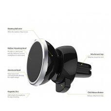 Automobilinis Universalus telefono laikiklis CPH-26, tvirtinamas ant ventiliacijos grotelių, magnetinis