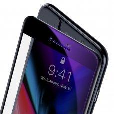 """GRŪDINTAS APSAUINIS STIKLAS SUTVIRTINTAIS KRAŠTAIS """"Baseus 0.23mm curved"""" IPHONE 7/ IPHONE 8/ IPHONE SE 2020 JUODAS (SGAPIPH8N-HPE01)"""