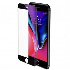"""Grūdintas Apsauginis Stiklas Sutvirtintais Kraštais """"Baseus 0.23Mm Curved"""" Iphone 8 Plus / Iphone 7 Plus Juodais Kraštais (Sgapiph8P-Hpe01)"""