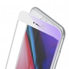 """GRŪDINTAS APSAUINIS STIKLAS SUTVIRTINTAIS KRAŠTAIS """"Baseus 0.23mm curved"""" iPhone 8 Plus / iPhone 7 Plus BALTAS (SGAPIPH8P-HPE02)"""