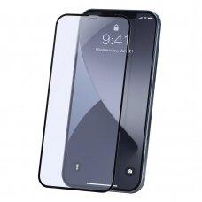 LCD apsauginis stiklas Baseus Anti Blue Light 2X Pilnai Dengiantis 0,23 Mm Iphone 12 Pro / Iphone 12 Juodais Kraštais