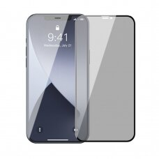 LCD apsauginis stiklas Baseus 2X Full Screen 0,23 Mm Anti Spy Iphone 12 Mini