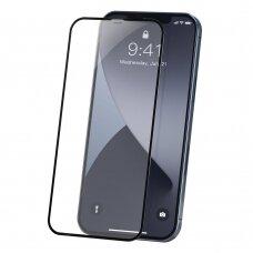 Baseus 2X Pilnai Ekraną Dengiantis 0,23 Mm Grūdintas Stiklas Iphone 12 Pro / Iphone 12 Juodais Kraštais (Sgapiph61P-Pe01)
