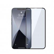 Grūdintas Stiklas Su Apsauga Nuo Mėlynos Šviesos Baseus Anti Blue Light 2X Pilnai Dengiantis 0,3 Mm Iphone 12 Pro / Iphone 12 Juodais Kraštais