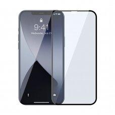 Grūdintas Stiklas Su Apsauga Nuo Mėlynos Šviesos Baseus Anti Blue Light 2X Iphone 12 Pro Max Juodais Kraštais