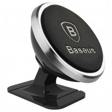Baseus 360-Degree Universal Magnetic Car Mount Holder For Car Dashboard Silver (Sugent-Nt0S) Ex-Display