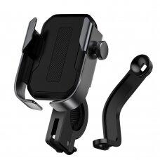 Baseus adjustable phone bike mount holder for hirlebar ir mirror juodas (SUKJA-01) (ctz220)