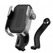 Baseus adjustable phone bike mount holder for hirlebar ir mirror sidabrinis (SUKJA-0S) (ctz220)