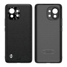 Dėklas Baseus Alloy odinis su kameros apsauga Xiaomi Mi 11 Juodas (WIXM11-01)