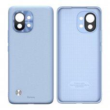 Dėklas Baseus Alloy odinis dėklas  durable case su kameros apsauga Xiaomi Mi 11 violetinis (WIXM11-05)