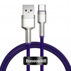 Baseus Cafule Series Kabelis USB Į Type-C 40W 1m Violetinis
