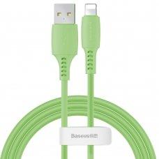 Baseus Colourful Cable Usb / Lightning 2.4A 1.2M Žalias (Caldc-06)