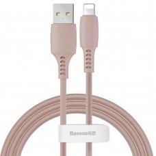 Baseus Colourful Cable Usb / Lightning 2.4A 1.2M Rožinis (Caldc-04)