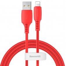 Baseus Colourful Cable Usb / Lightning 2.4A 1.2M Raudonas (Caldc-09)