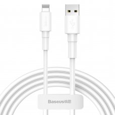 Baseus Durable Usb Cable / Lightning 2.4A 1M White (Calsw-02)