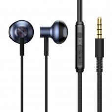 Ausinės Baseus Encok H19 3,5 mm mini jack wired earphones with remote control su mikrofonu mėlynos (NGH19-01)
