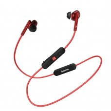 BASEUS ENCOK S30 IN EAR WIRELESS HEADPHONES BLUETOOTH 5.0 HEADSET WITH REMOTE CONTROL RED (NGS30-09)