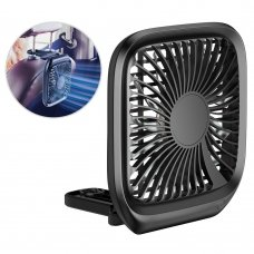BASEUS FOLDABLE VEHICLE-MOUNTED BACKSEAT FAN CAR HEADREST MICRO USB WINDMILL BLACK (CXZD-01)
