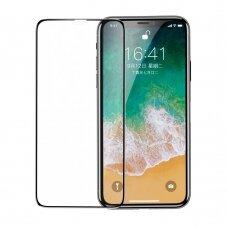 """Apsauginis Pilnai Dengiantis Stiklas """"Baseus 3D"""" Apple Iphone 11 Pro / Iphone Xs / Iphone X Juodais Kraštais (Sgapiphx-Kc01)"""