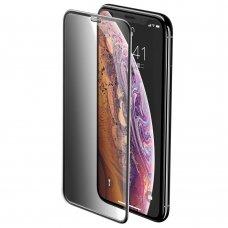 """Apsauginis Stiklas Pilnai Dengiantis Ekraną """"Baseus Privacy Filter 3D """" Apple Iphone 11 Pro / Iphone Xs / Iphone X Juodas (Sgapiph58-Wc01)"""