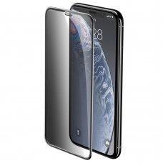 "Apsauginis Stiklas Pilnai Dengiantis Ekraną ""Baseus Privacy Filter 3D "" Apple Iphone Xr / Iphone 11 Juodas (Sgapiph61-Wc01)"