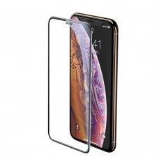 "Apsauginis Stiklas Pilnai Dengiantis Ekraną ""Baseus Speaker Dust Protector 3D "" Apple Iphone 11 Pro Max / Iphone Xs Max Juodas (Sgapiph65-Wa01)"