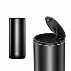 BASEUS GENTLEMAN STYLE VEHICLE-MOUNTED TRASH CAN BLACK (CRLJT-01)