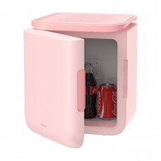 Baseus Igloo Mini Šaldytuvas Studentams 6L EU (Šaldiklis ir Šildiklis) (ACXBW-A04) Rožinis
