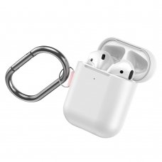 Baseus Let''s go AirPods Case Silica Gel Protector for Airpods 1/2 + hook BALTAS (WIAPPOD-C24)