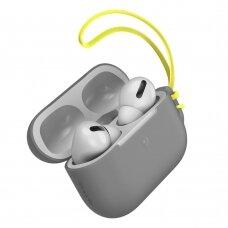 Baseus Let''s go AirPods Pro Case Silica gelinis dėklas Airpods Pro + mini Lanyard pilkas (WIAPPOD-D0G) (ctz220)