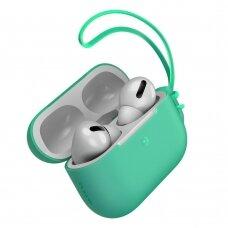 Baseus Let''s go AirPods Pro Case Silica gelinis dėklas Airpods Pro + mini Lanyard žalias (WIAPPOD-D06) (ctz220)