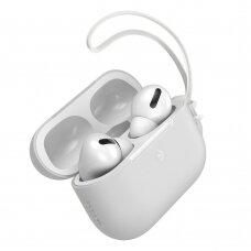 Baseus Let''s go AirPods Pro Case Silica gelinis dėklas Airpods Pro + mini Lanyard baltas (WIAPPOD-D02) (ctz220)