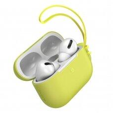 Baseus Let''s go AirPods Pro Case Silica gelinis dėklas Airpods Pro + mini Lanyard geltonas (WIAPPOD-D0Y) (ctz220)