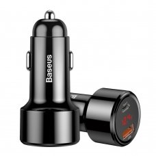 BASEUS MAGIC SERIES PPS CAR CHARGER WITH DIGITAL DISPLAY USB QUICK CHARGE 3.0 / USB TYPE C PD QC4+ 45W 6A BLACK (CCMLC20C-01)