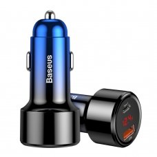 BASEUS MAGIC SERIES PPS CAR CHARGER WITH DIGITAL DISPLAY USB QUICK CHARGE 3.0 / USB TYPE C PD QC4+ 45W 6A BLUE(CCMLC20C-03)