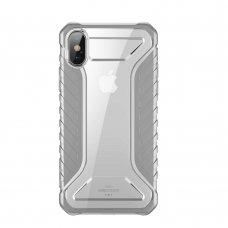 "Tpu Ir Pc Plastiko Dėklas ""Baseus Michelin Case"" Apple Iphone Xs Max Pilkas (Wiapiph65-Mk0G)"