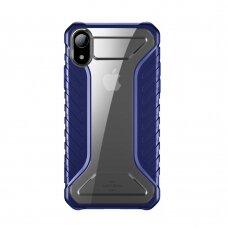 Baseus Michelin dėklas iPhone XR mėlynas (WIAPIPH61-MK03) (ctz013)