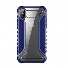 Baseus Michelin dėklas iPhone XS Max mėlynas (WIAPIPH65-MK03) (ctz013) UCS059