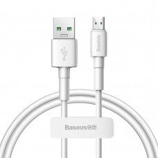 Baseus Mini White Kabelis USB skirtas Micro 4A 0.5m Baltas