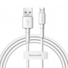 Baseus Mini White Kabelis USB skirtas Micro 4A 1m Baltas