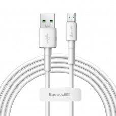 Baseus Mini White Kabelis USB skirtas Micro 4A 2m Baltas
