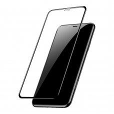"Apsauginis Grūdintas Stiklas Silikoniniais Kraštais ""Baseus Soft 3D"" Apple Iphone 11 Pro Max / Iphone Xs Max 0,23 Mm Juodas (Sgapiph65-Pe01)"