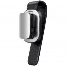 Baseus platinum vehicle eyewear clip clamping type sidabrinis (ACYJN-B0S) (ctz220)