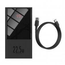 Išorinė Baterija Baseus 10000 mAh USB / USB Typ C 22,5 W 5 A Greitas Įkrovimas 3.0 AFC FCP Juoda (PPMN-A01)