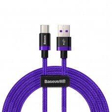 Baseus Purple Gold Red Usb / Usb-C Cable With Nylon Braid Supercharge 40W Quick Charge 3.0 Qc3.0 2M Purple (Catzh-B05) Ex-Display